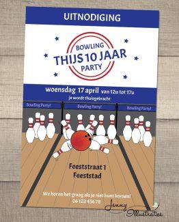 bowling uitnodiging