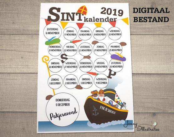 Sint kalender digitaal